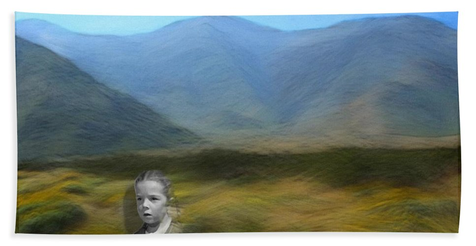 Desert Bath Towel featuring the digital art Unresolved by Snake Jagger