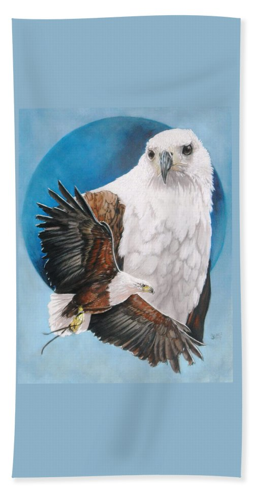 Eagle Bath Sheet featuring the mixed media Unrivalled by Barbara Keith