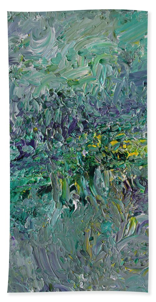 Fusionart Bath Towel featuring the painting Blind Giverny by Ralph White