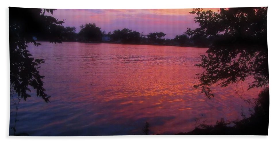 Sunset Bath Sheet featuring the photograph Until December by September Stone