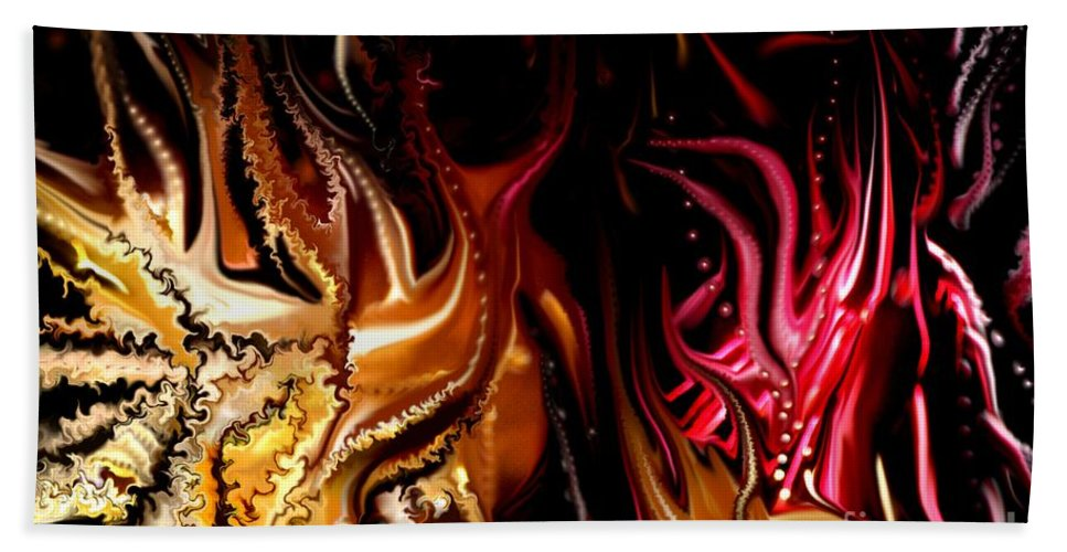 Abstract Bath Sheet featuring the digital art Until The End by David Lane