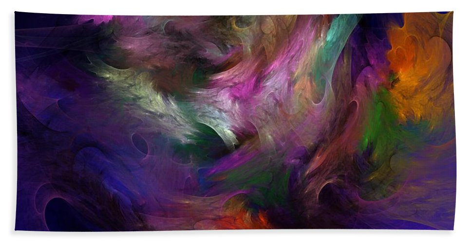 Fantasy Hand Towel featuring the digital art Untitled 01-12-10 by David Lane