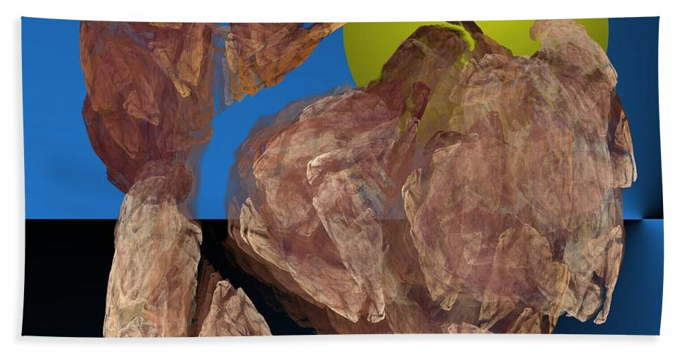 Digital Painting Hand Towel featuring the digital art Untitled 01-16-10 by David Lane