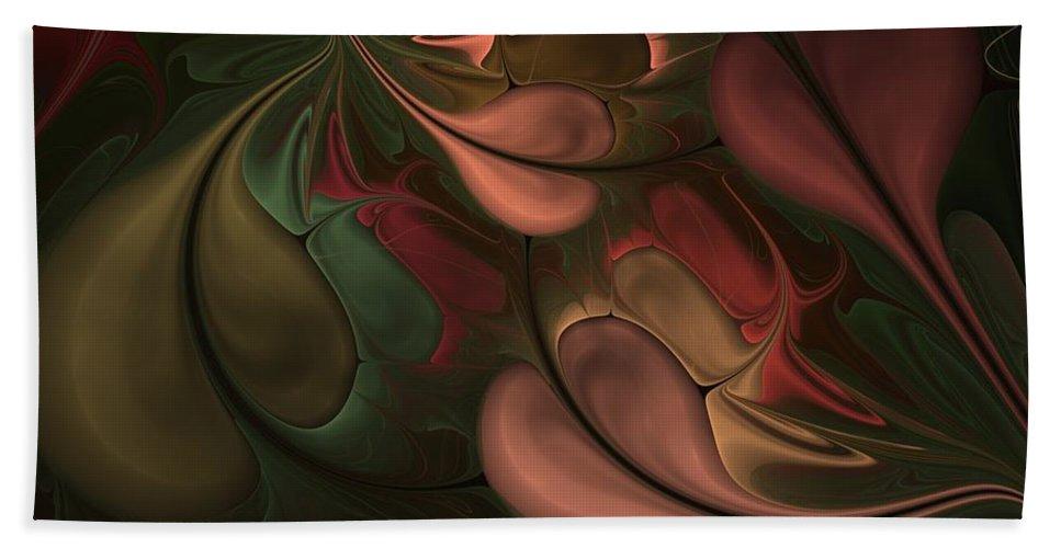Digital Painting Hand Towel featuring the digital art Untitled 01-26-10 Earth Tones by David Lane