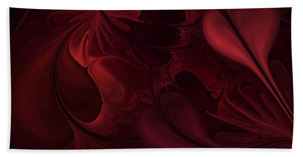 Digital Painting Hand Towel featuring the digital art Untitled 1-26-10 Reds by David Lane