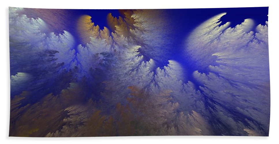Abstract Digital Painting Bath Towel featuring the digital art Untitled 11-1-09 by David Lane