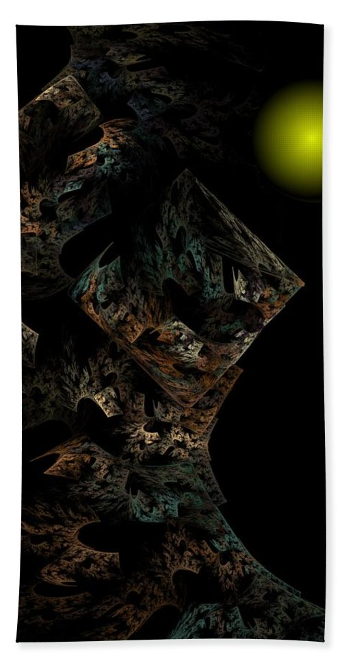 Fantasy Bath Towel featuring the digital art Untitled 12-18-09 by David Lane