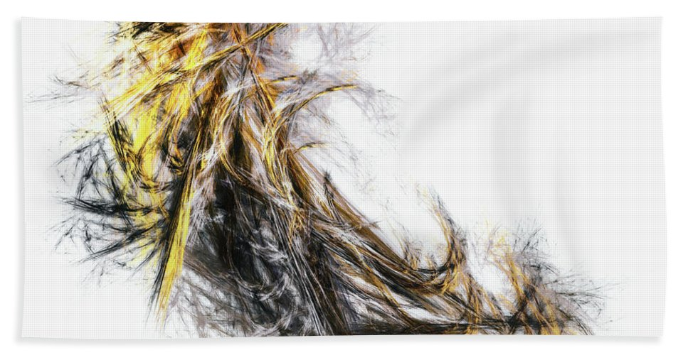 Abstract Hand Towel featuring the digital art Untitled 2 by Scott Norris