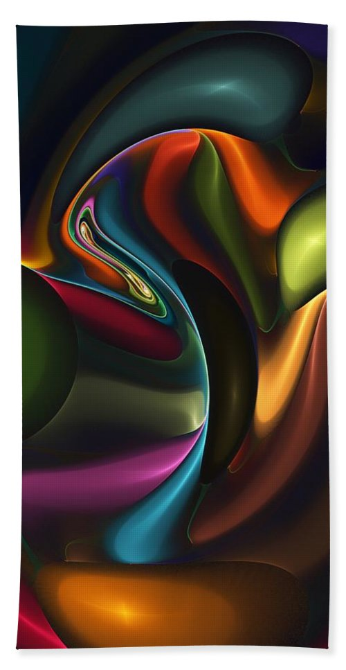 Digital Painting Hand Towel featuring the digital art Untitled 4-10-10-a by David Lane