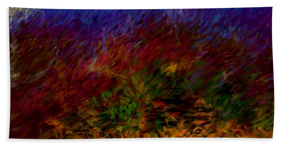 Digital Painting Bath Sheet featuring the digital art Untitled 4-11-10 by David Lane