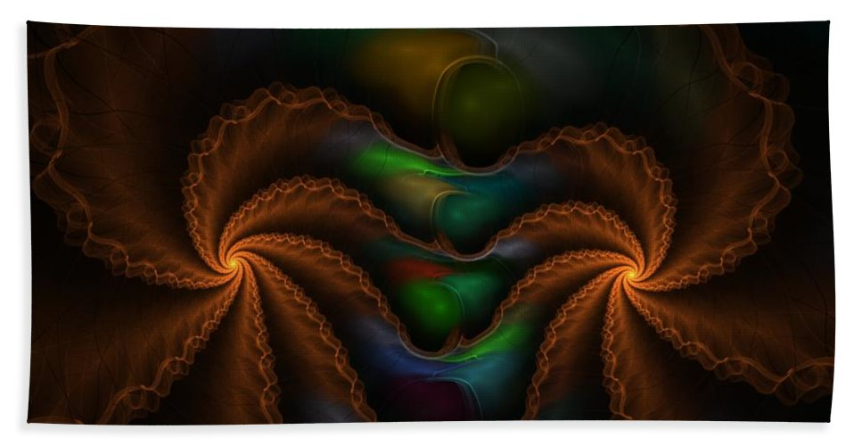 Digital Painting Hand Towel featuring the digital art Untitled 5-3-10 by David Lane