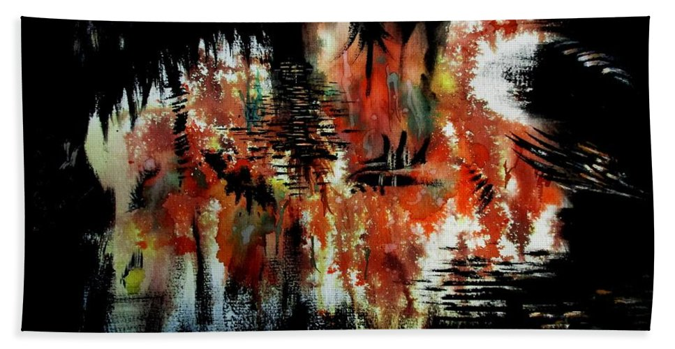 Art Hand Towel featuring the painting Untitled--58 by Tamal Sen Sharma