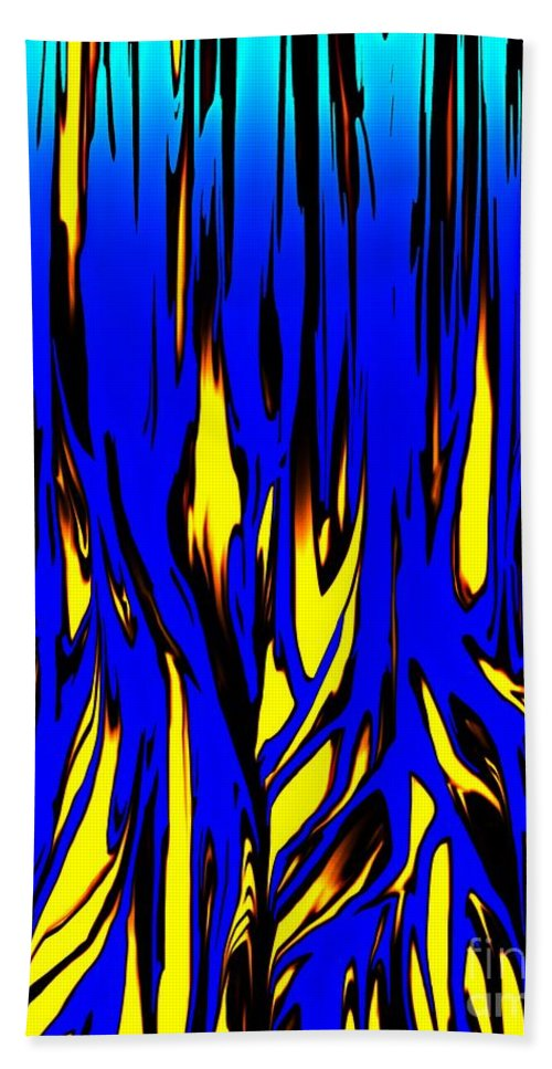Abstract Hand Towel featuring the digital art Untitled 7-21-09 by David Lane