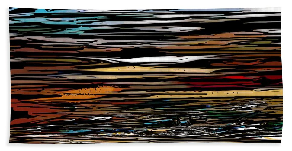Abstract Digital Painting Bath Towel featuring the digital art Untitled 9-12-09 by David Lane