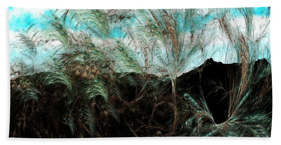 Digital Photograph Hand Towel featuring the digital art Untitled 9-26-09 by David Lane