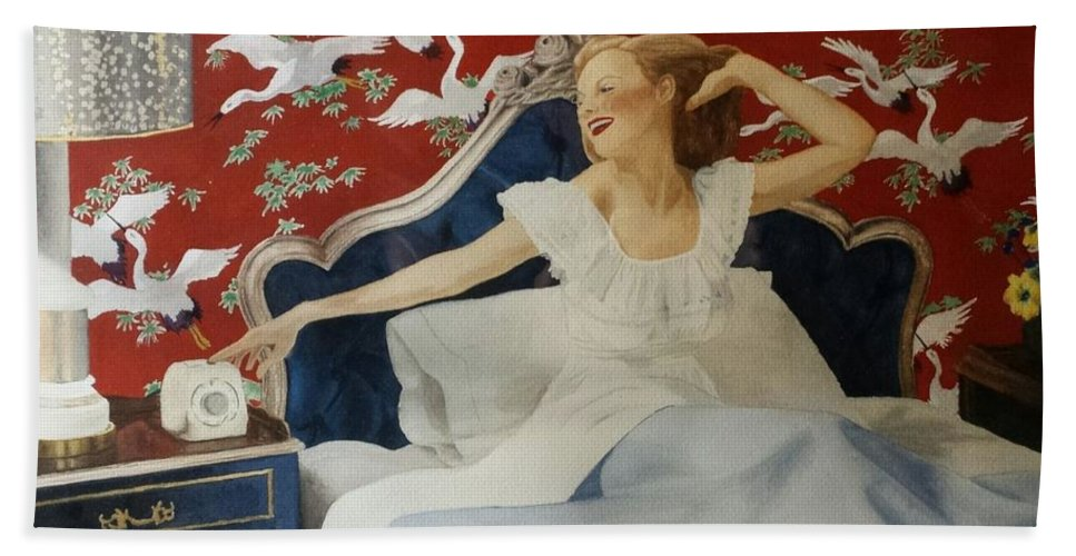 Portrait Bath Sheet featuring the painting Rise And Shine by David Corrigan