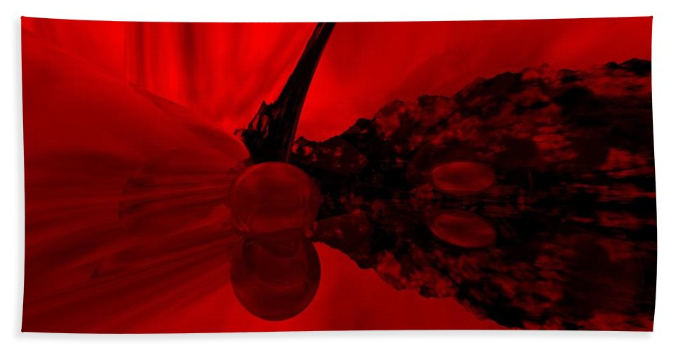Abstract Hand Towel featuring the digital art Untitled by David Lane