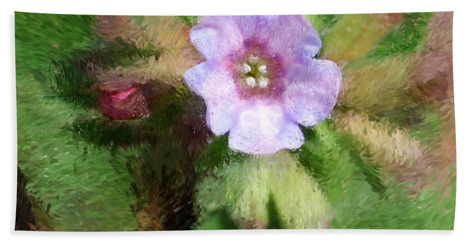 Digital Photo Hand Towel featuring the photograph Untitled Floral -1 by David Lane