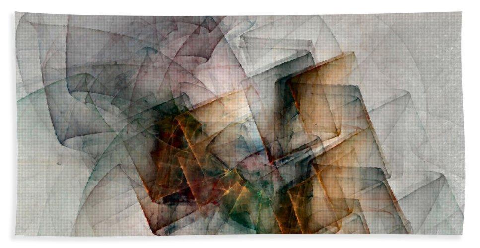 Study Bath Sheet featuring the digital art Untitled Study No. 705 by NirvanaBlues