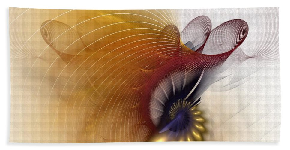 Abstract Hand Towel featuring the digital art Untitled Study No.601 by NirvanaBlues