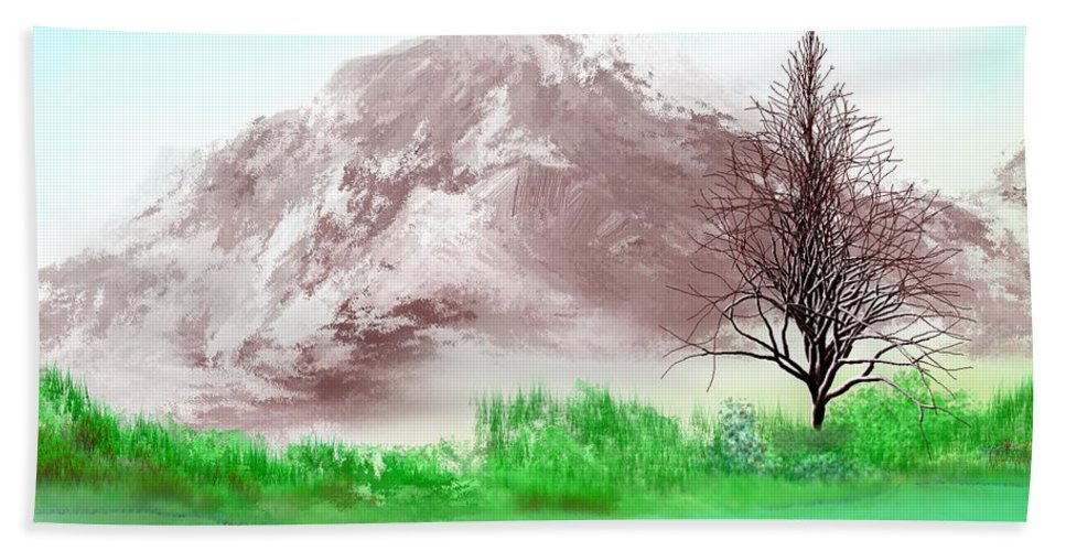 Landscape Hand Towel featuring the digital art Untitled Wip by David Lane