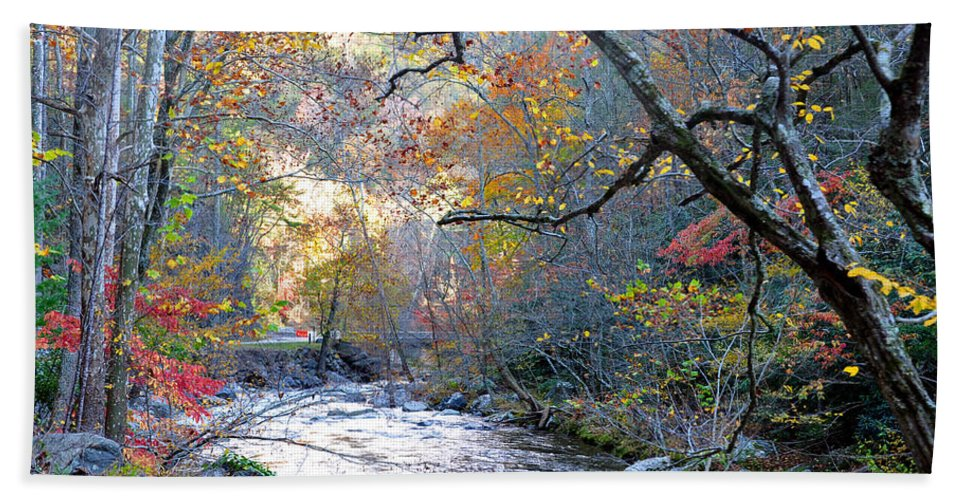 Smokey Mountain Hand Towel featuring the photograph Up The Mountain We Go by Brittany Horton