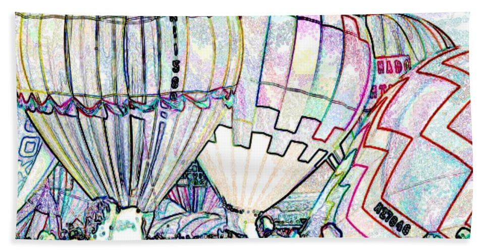 Balloons Hand Towel featuring the photograph Up Up And Away by Tim Allen