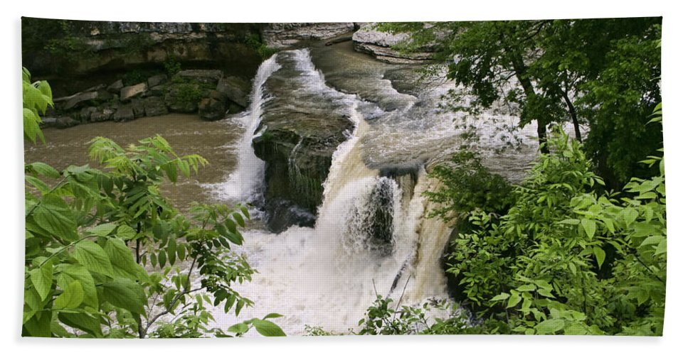 Upper Cataract Falls Hand Towel featuring the photograph Upper Cataract Falls by Phyllis Taylor
