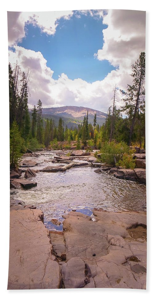 Utah Hand Towel featuring the photograph Upper Provo, Early Fall by Rob Hall