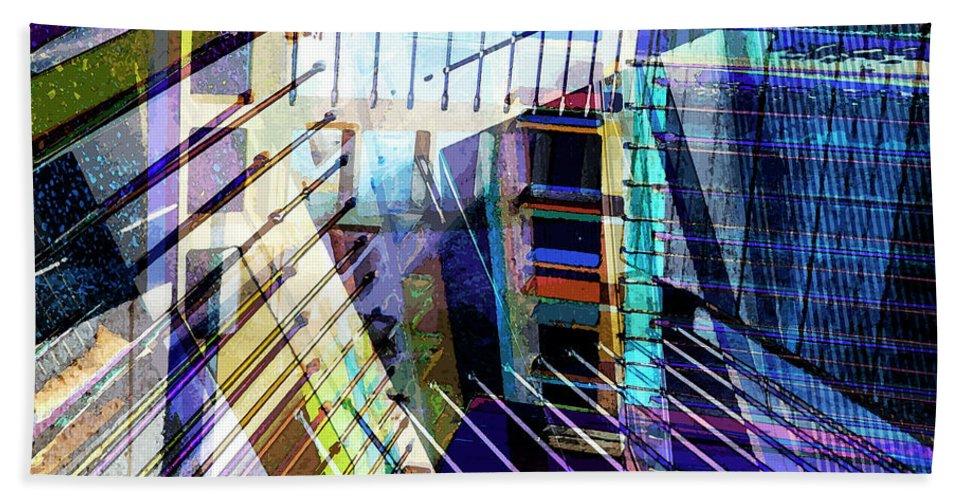 City Bath Sheet featuring the photograph Urban Abstract 304 by Don Zawadiwsky