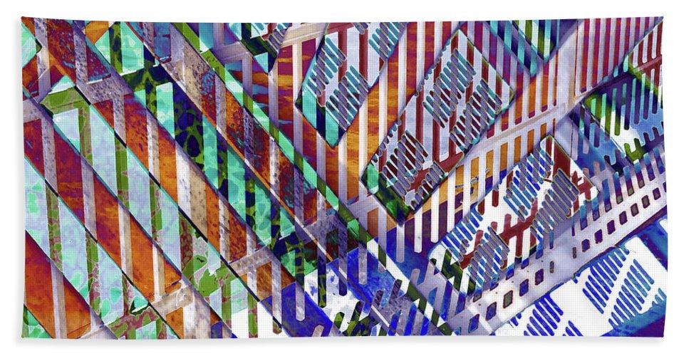 City Bath Sheet featuring the photograph Urban Abstract 352 by Don Zawadiwsky