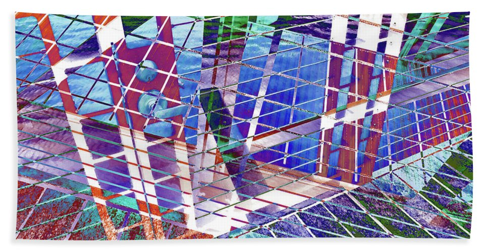 City Hand Towel featuring the photograph Urban Abstract 411 by Don Zawadiwsky