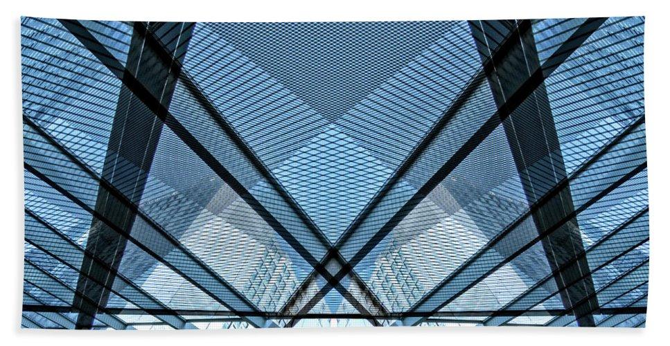 Cta Hand Towel featuring the photograph Urban Abstract Vi by Izet Kapetanovic