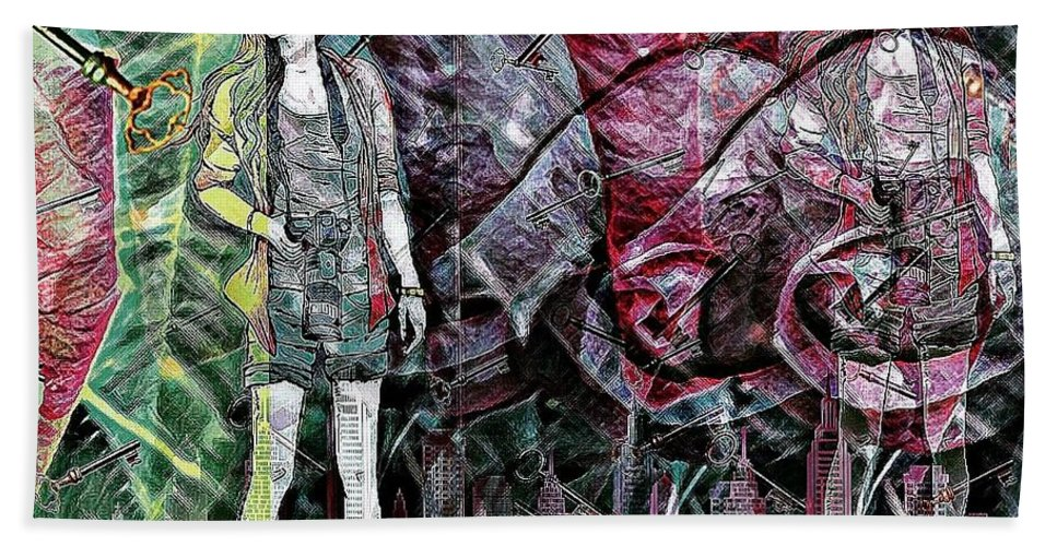 Urban Abstract Bath Sheet featuring the photograph Urban Abstract,pop Art by Olga Lyakh