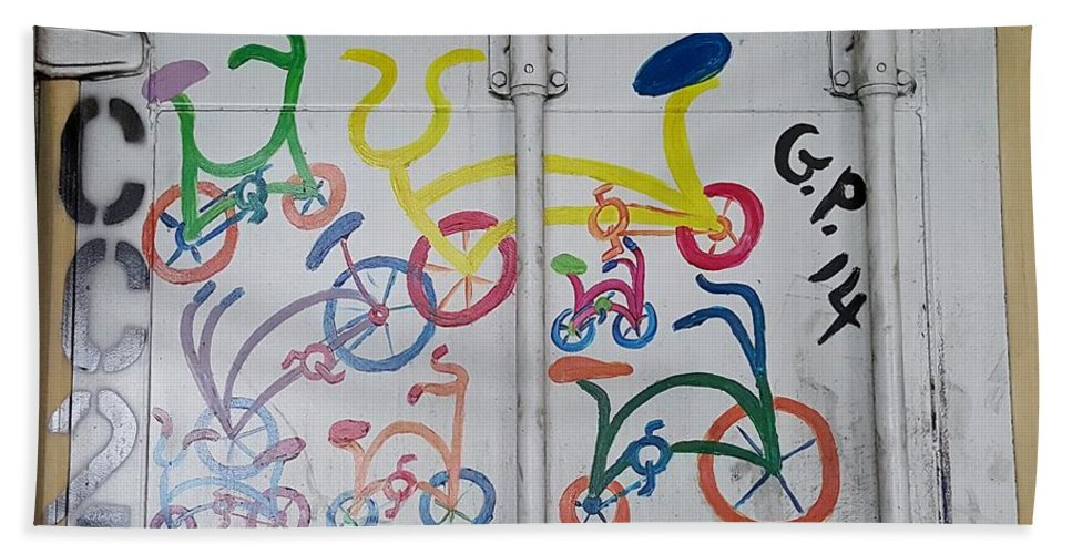 Bike Hand Towel featuring the photograph Urban Container Art I I by Rob Hans