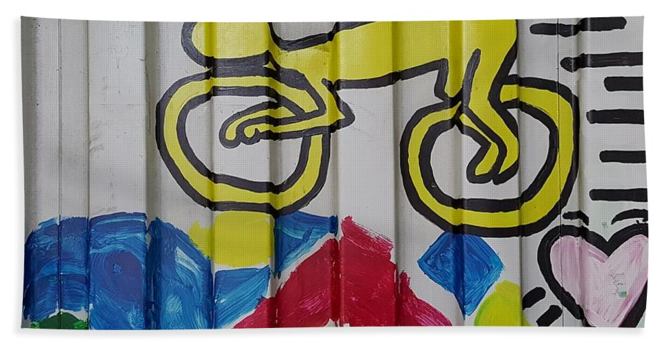 Bike Hand Towel featuring the photograph Urban Container Art by Rob Hans
