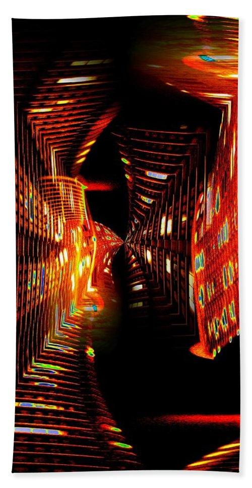 Urban Bath Sheet featuring the photograph Urban Nightlights by Tim Allen