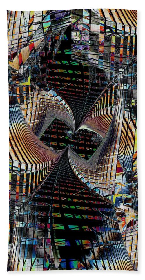 Urban Hand Towel featuring the digital art Urban Twist And Tango by Tim Allen