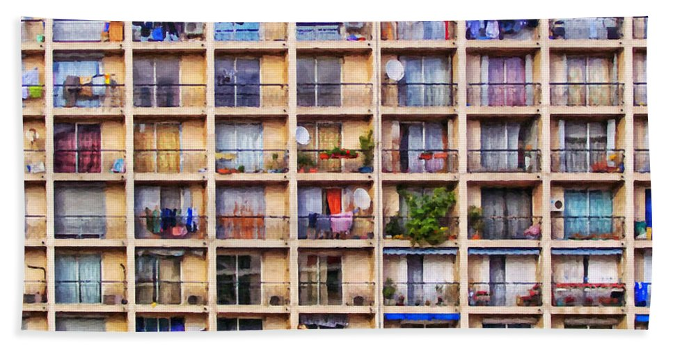 France Hand Towel featuring the painting Urbanisation by Antony McAulay