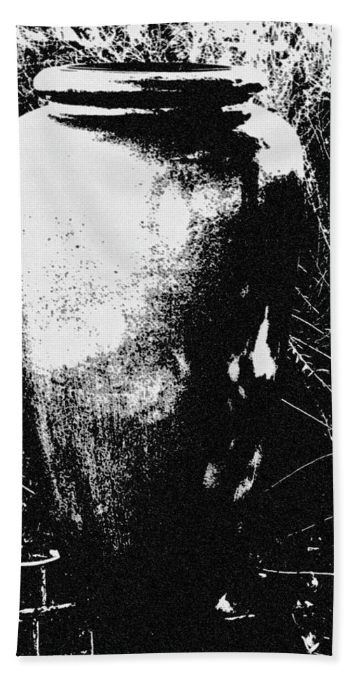 Hand Towel featuring the digital art Urn by Iris Posner