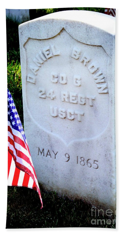 Colored Troops Hand Towel featuring the photograph Us Colored Troops by Paul W Faust - Impressions of Light
