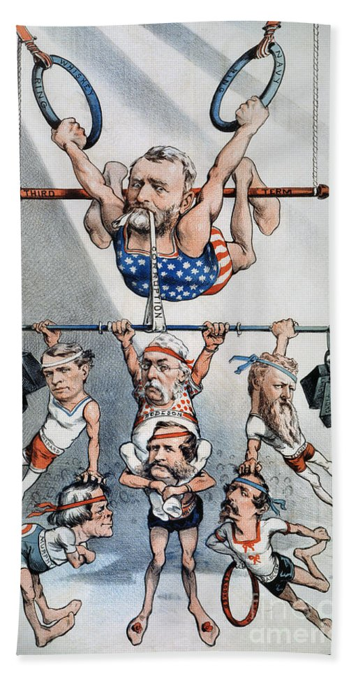 1880 Hand Towel featuring the photograph U.s. Grant Cartoon, 1880 by Granger