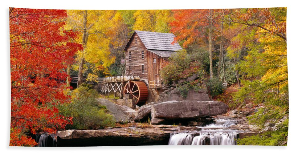 Photography Hand Towel featuring the photograph Usa, West Virginia, Glade Creek Grist by Panoramic Images