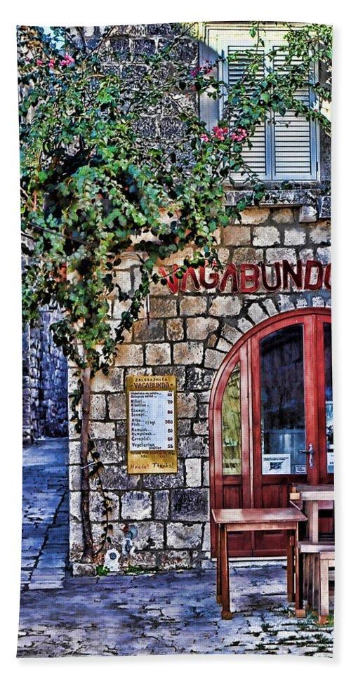Croatia Bath Sheet featuring the photograph Vagabundo Corfu by Tom Prendergast