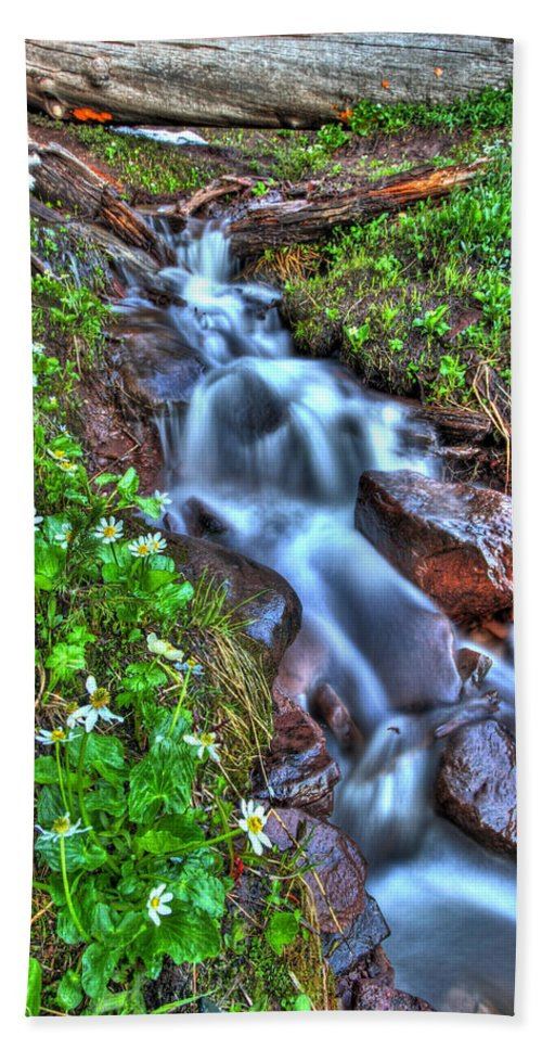 Vail Hand Towel featuring the photograph Vail Cascade by Scott Mahon