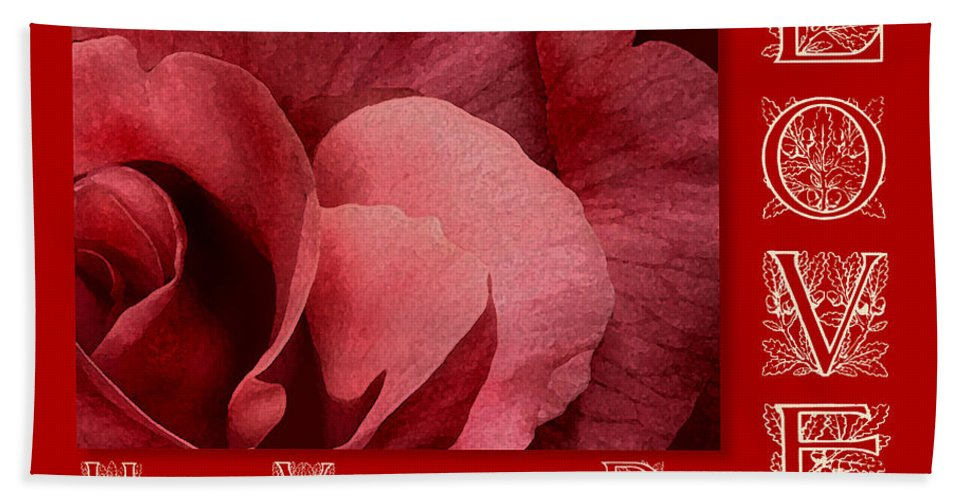 Valentine Bath Sheet featuring the digital art Valentines Day Love by Melissa A Benson