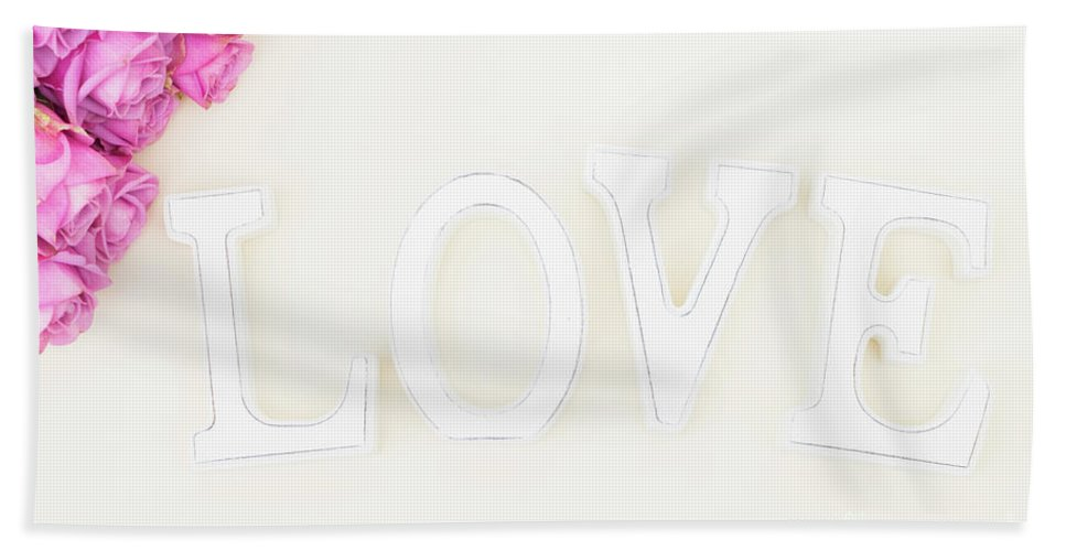 Rose Hand Towel featuring the photograph Love Is All You Need.. by Anastasy Yarmolovich