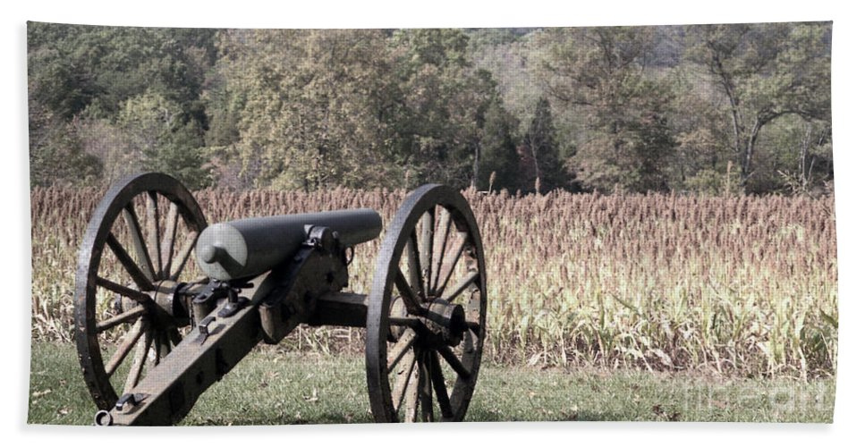 Gettysburg Bath Towel featuring the photograph Valley Of Death by Richard Rizzo
