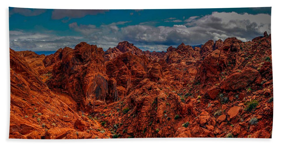 Valley Of Fire Bath Sheet featuring the photograph Valley Of Fire by Michele James