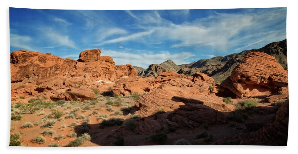 Beehive Hand Towel featuring the photograph Valley Of Fire XI by Ricky Barnard